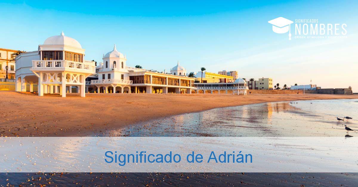 Significado de Adrián