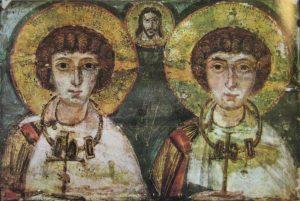 vida, y día de celebración de San Sergio y su relación con Baco