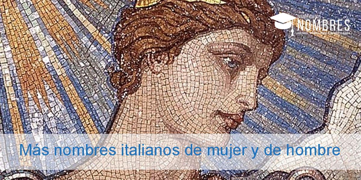 Más nombres italianos de mujer y de hombre