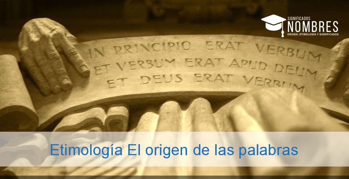 Etimología El origen de las palabras